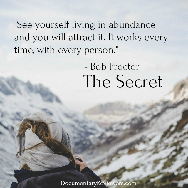 """""""See yourself in abundance and you will attract it."""" Great Law of Attraction quote from The Secret!"""